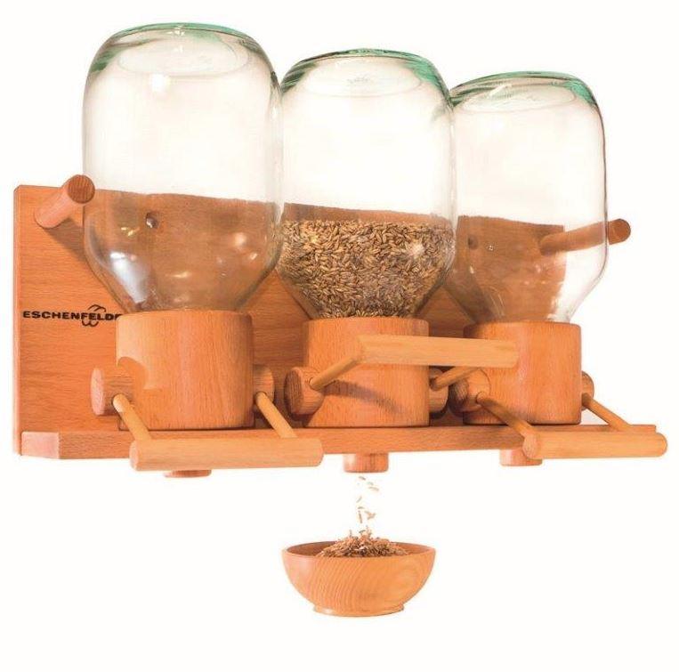 Eschenfelder Getreidespeicher Getreidesilo Modell 319 mit drei großen Silos aus Glas in verschiedenen Ausführungen erhältlich