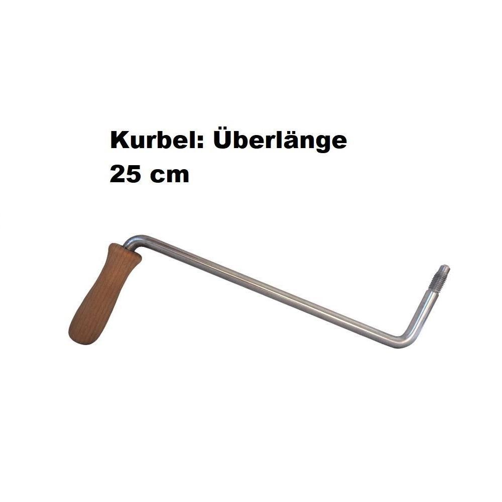 """Kurbel """"Überlänge"""" für alle Korn-Quetschen, Länge 25 cm bei uns auf Bestellung (kostenfrei)"""