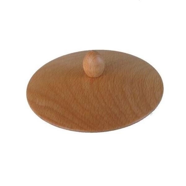 Eschenfelder Trichterdeckel für Korn-Quetsche, Tisch- oder Wandmodell aus aus massivem Buchenholz