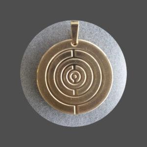 Brain-Y das original 5G-Anhänger, Gold-Auflage, 2,5 cm Durchmesser, 24-Karat